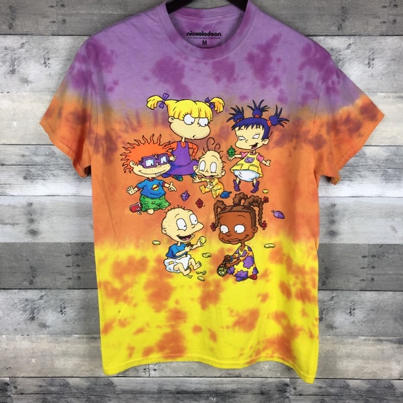 Rugrats Womens Graphic Tee Tie Dye